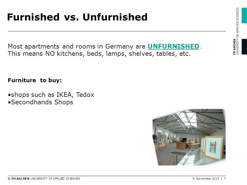 Furnished vs. Unfurnished