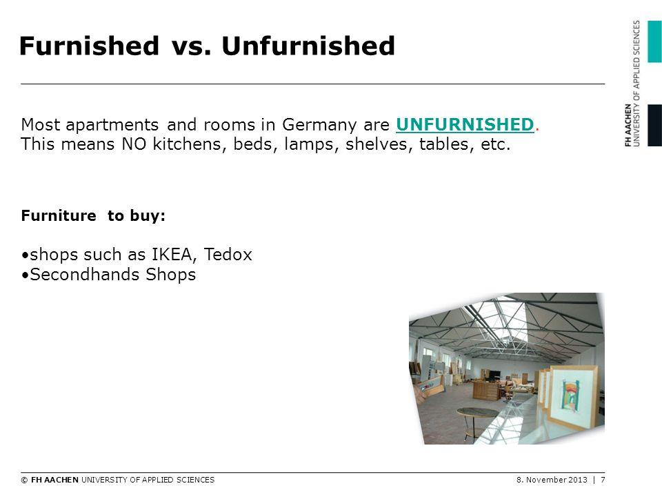 Furnished vs. Unfurnished