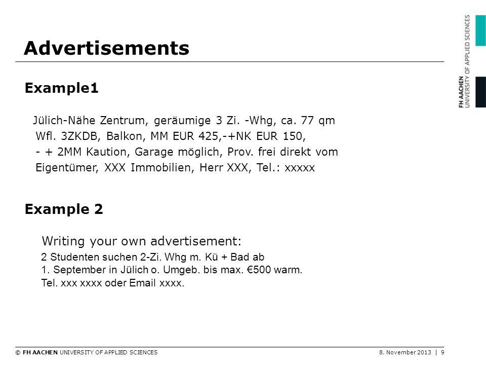 Advertisements Example1 Example 2