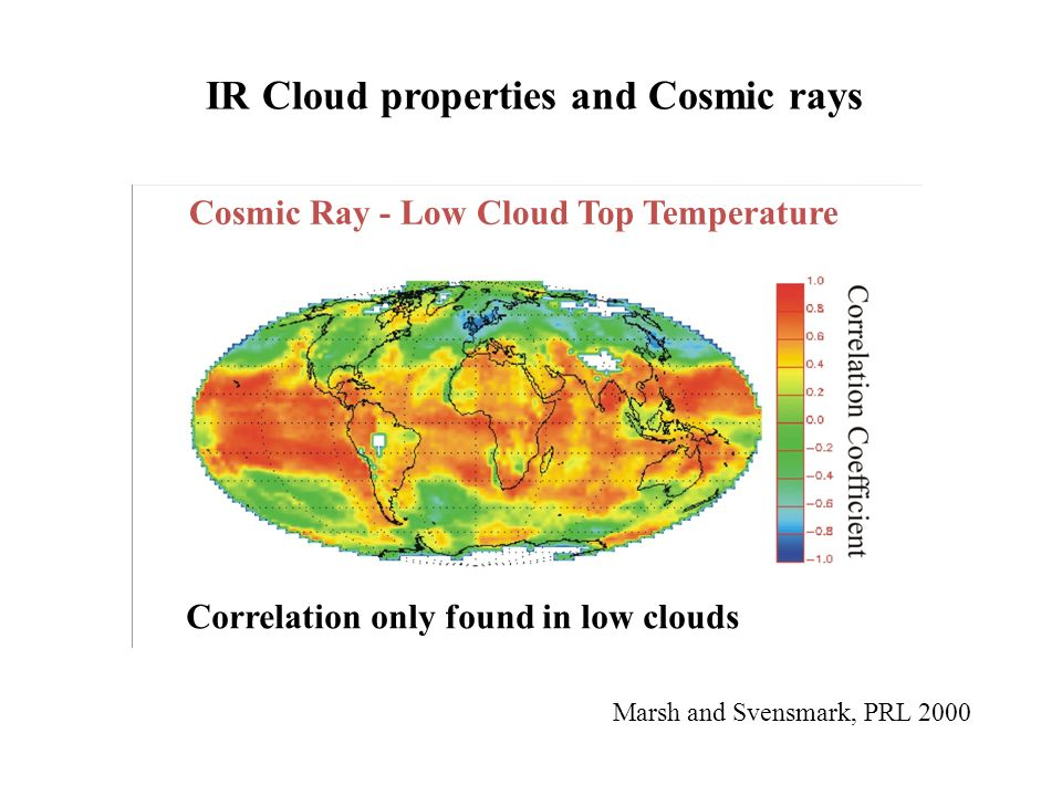 IR Cloud properties and Cosmic rays