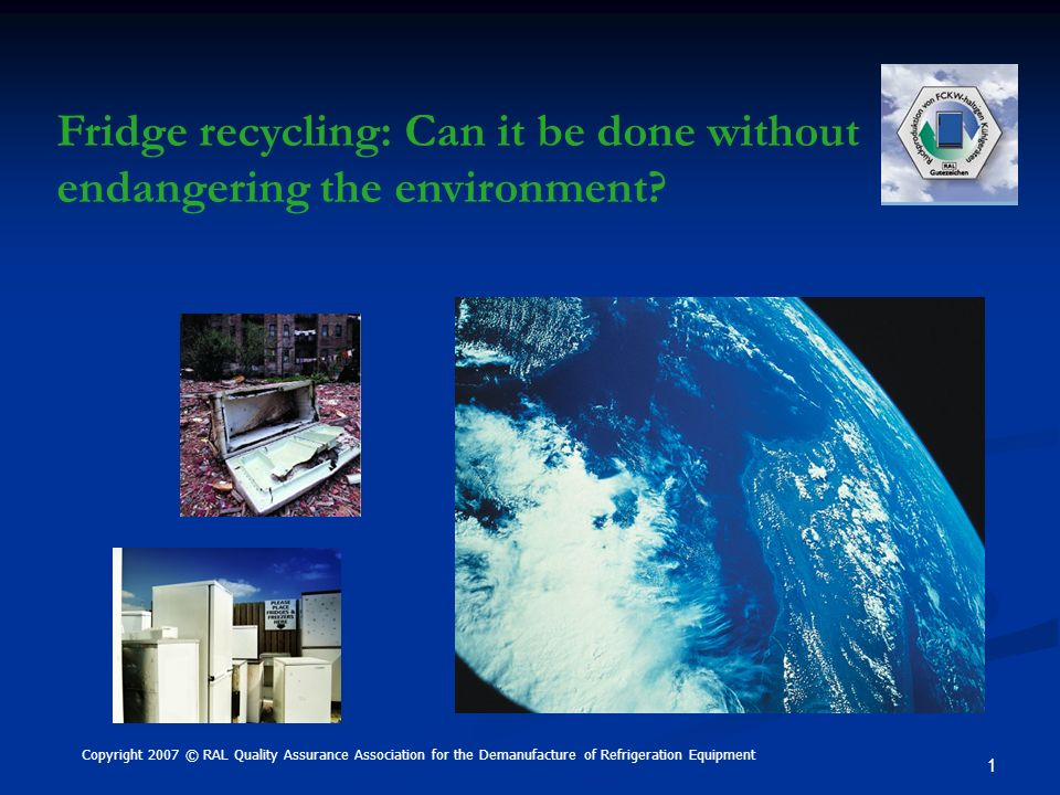 Fridge recycling: Can it be done without endangering the environment
