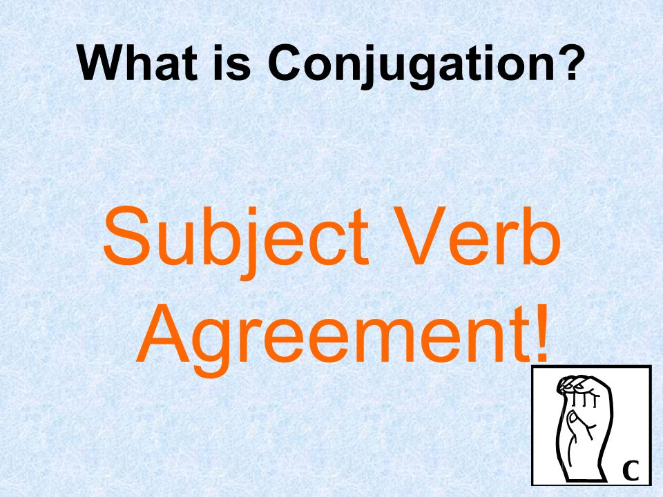 Subject Verb Agreement!