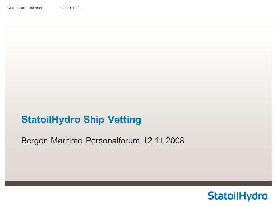 StatoilHydro Ship Vetting