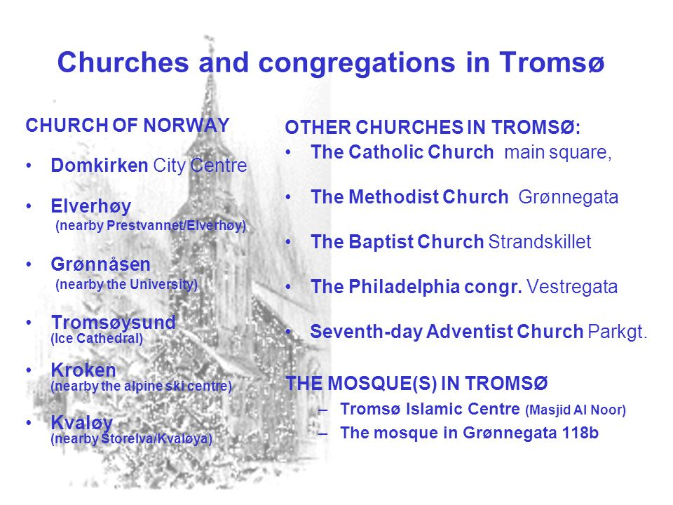 Churches and congregations in Tromsø