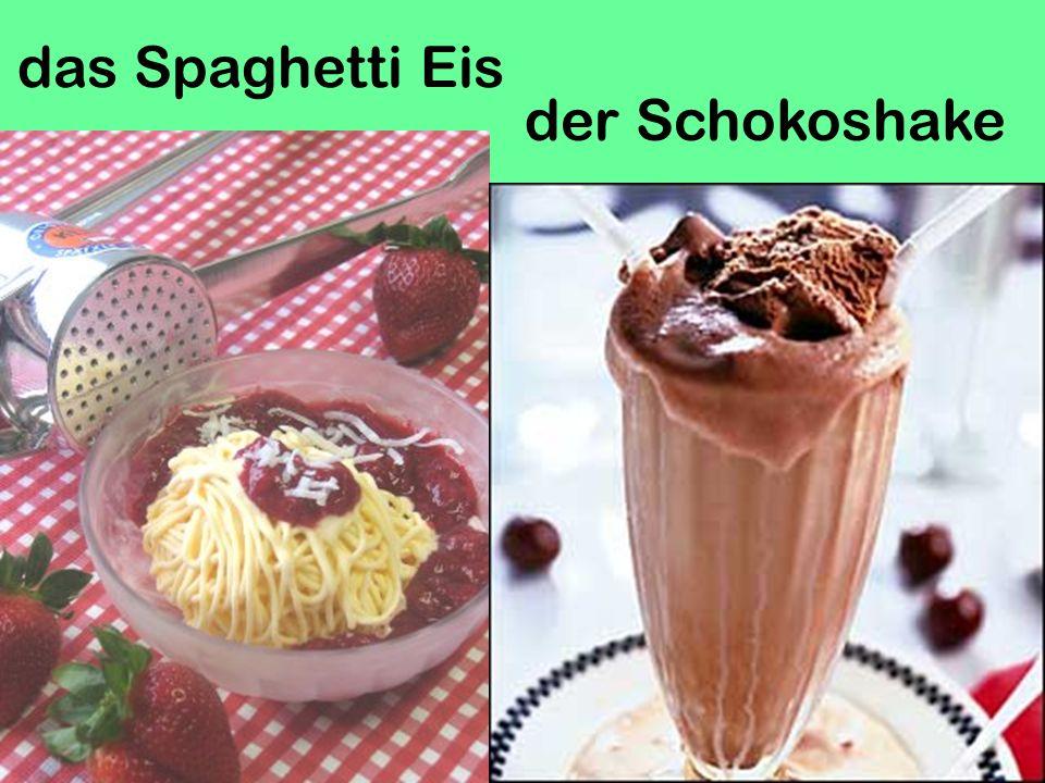 das Spaghetti Eis der Schokoshake