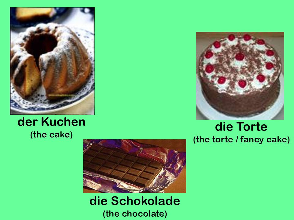 (the torte / fancy cake)