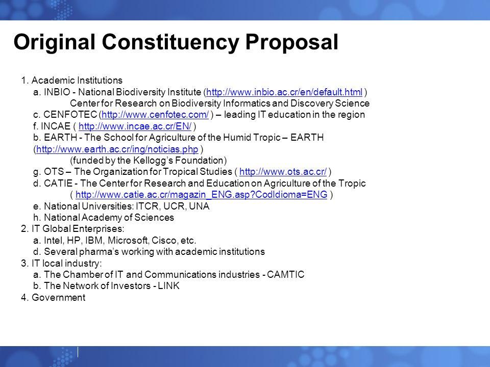 Original Constituency Proposal