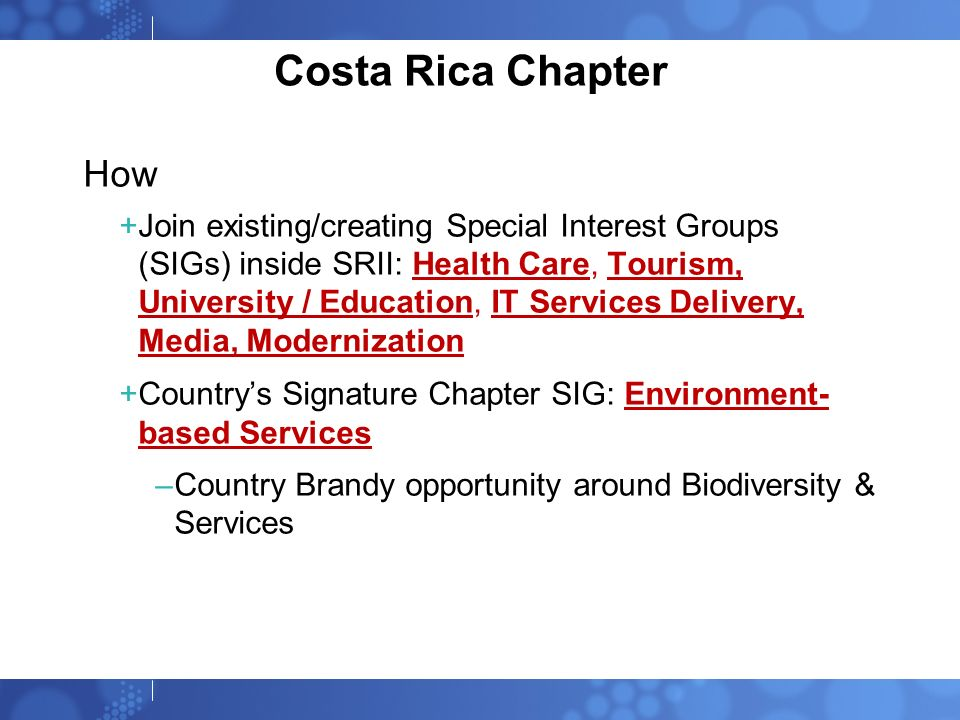 Costa Rica Chapter How.
