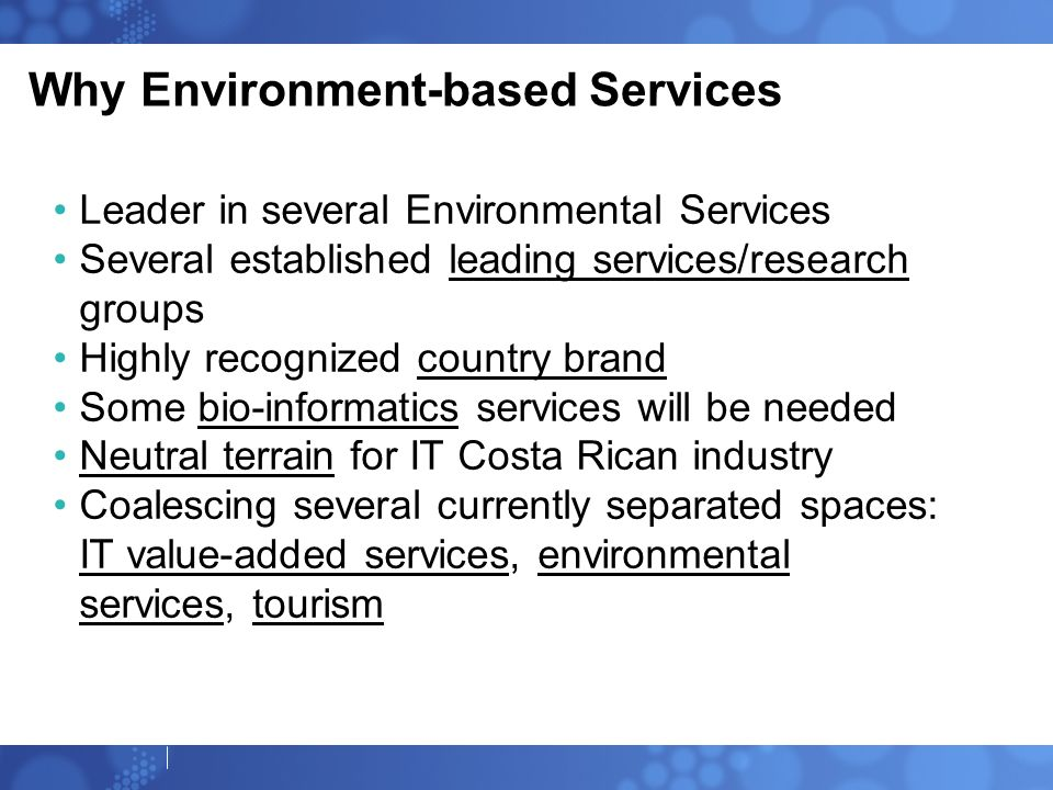 Why Environment-based Services