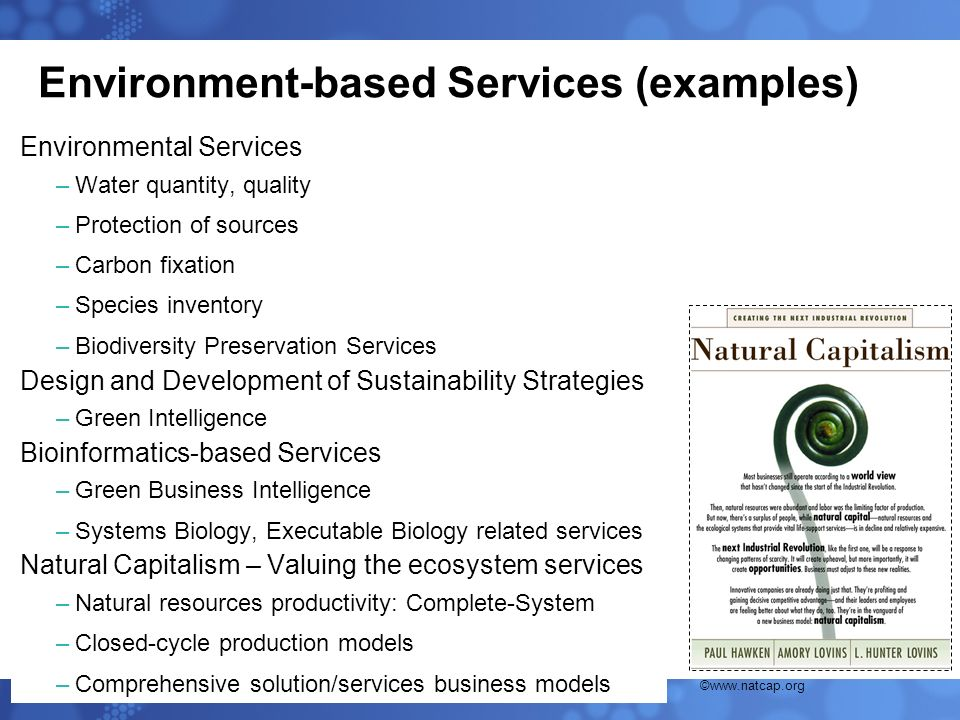 Environment-based Services (examples)
