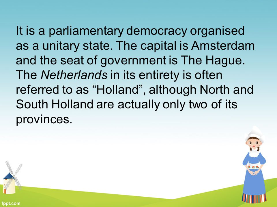 It is a parliamentary democracy organised
