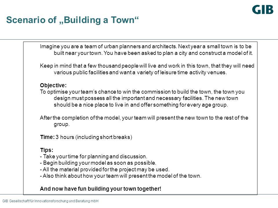 """Scenario of """"Building a Town"""