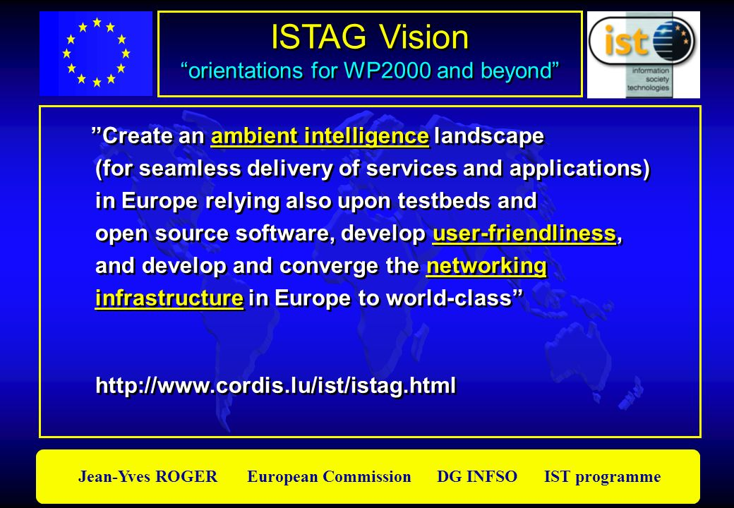ISTAG Vision orientations for WP2000 and beyond