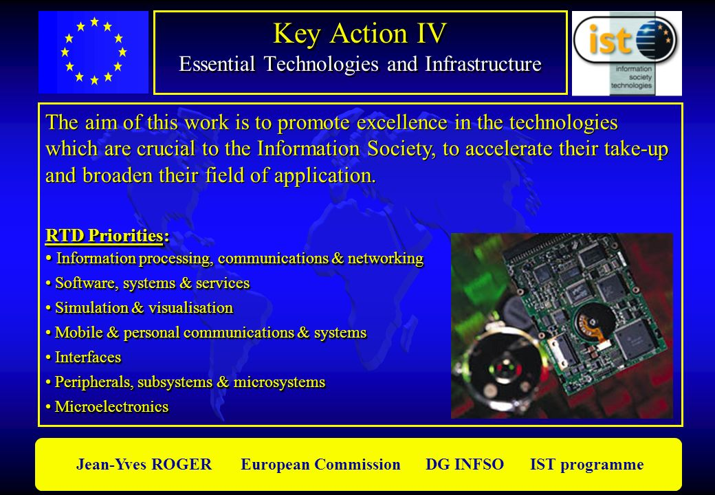 Key Action IV Essential Technologies and Infrastructure
