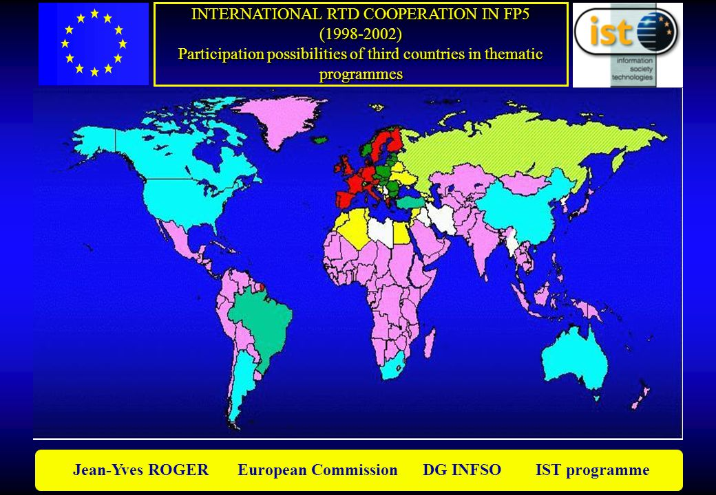 Jean-Yves ROGER European Commission DG INFSO IST programme