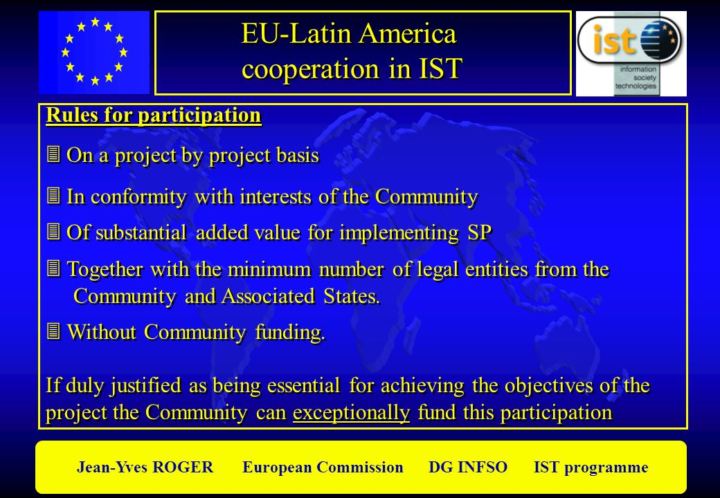 EU-Latin America cooperation in IST