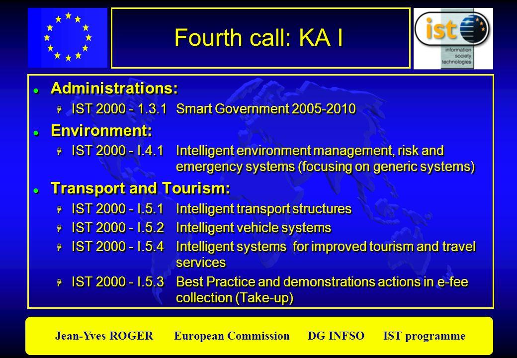 Fourth call: KA I Administrations: Environment: Transport and Tourism: