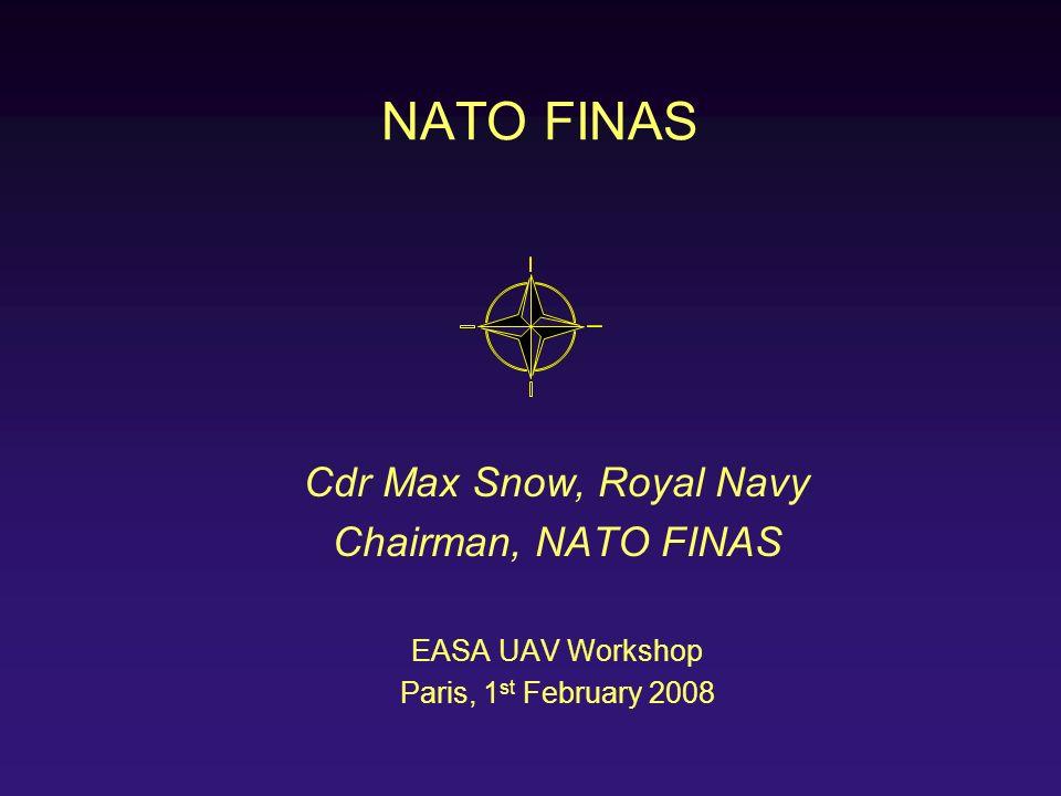 NATO FINAS Cdr Max Snow, Royal Navy Chairman, NATO FINAS