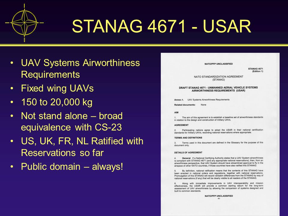STANAG 4671 - USAR UAV Systems Airworthiness Requirements