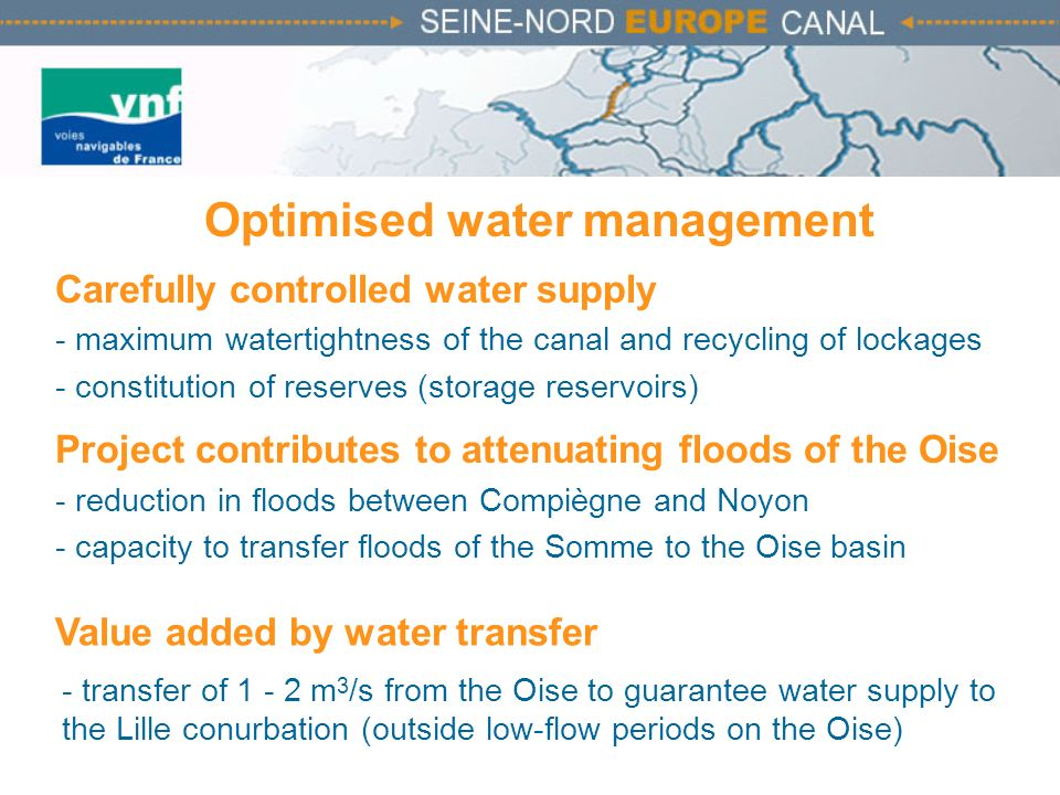 Optimised water management