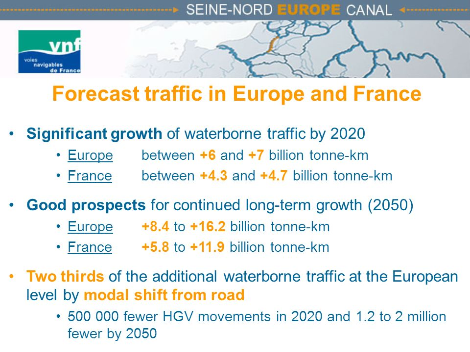 Forecast traffic in Europe and France