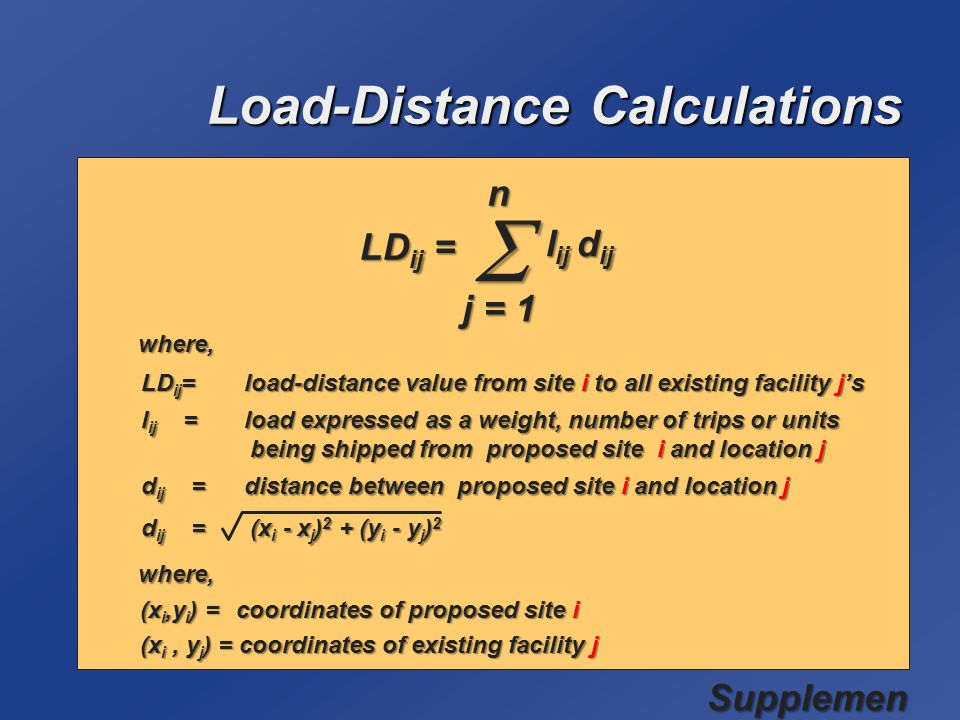 Load-Distance Calculations