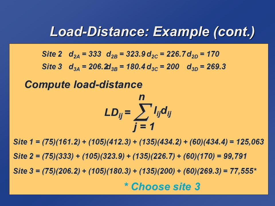 Load-Distance: Example (cont.)