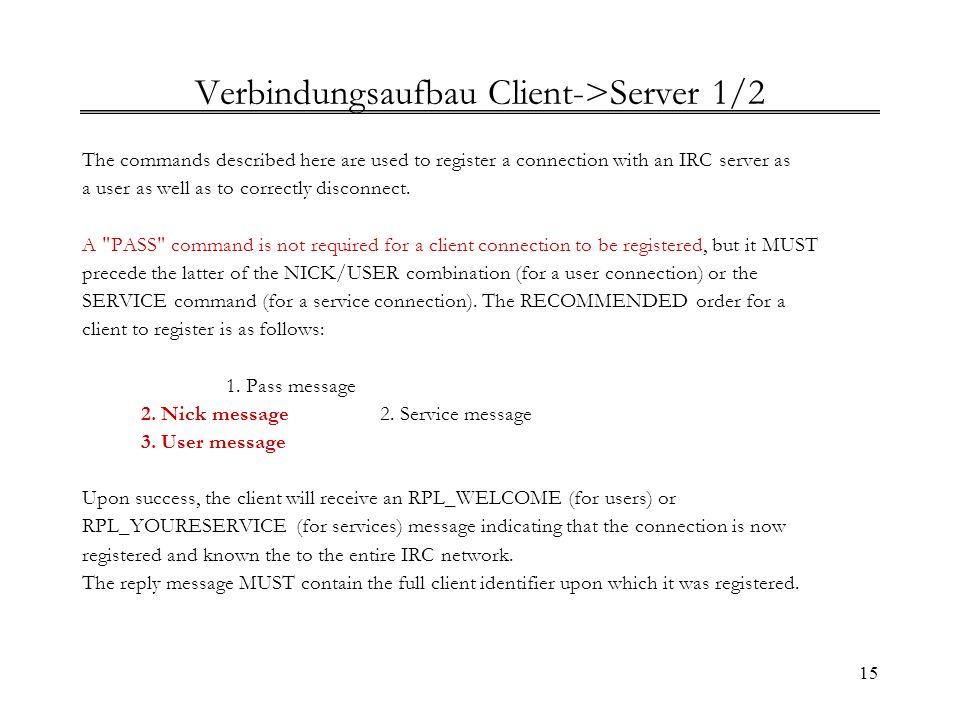 Verbindungsaufbau Client->Server 1/2
