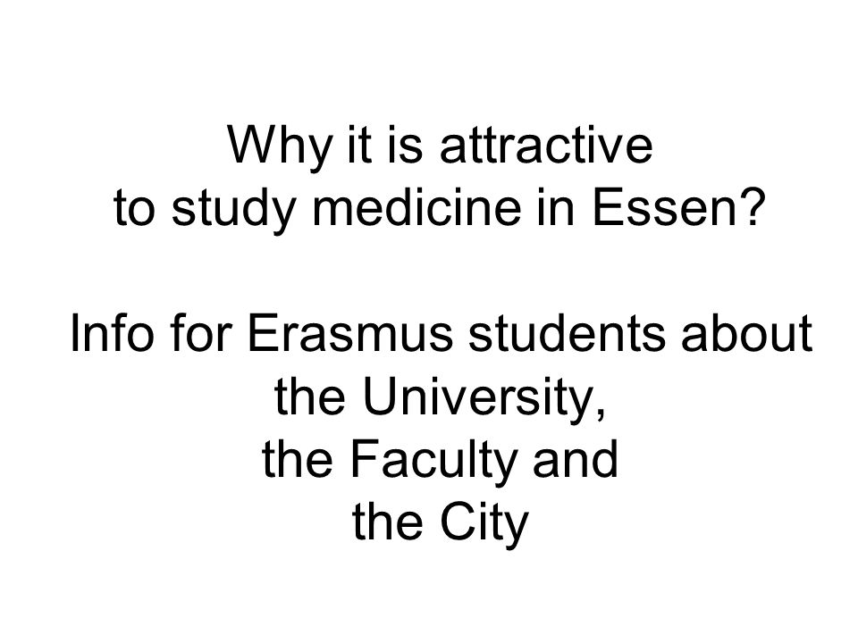 Why it is attractive to study medicine in Essen