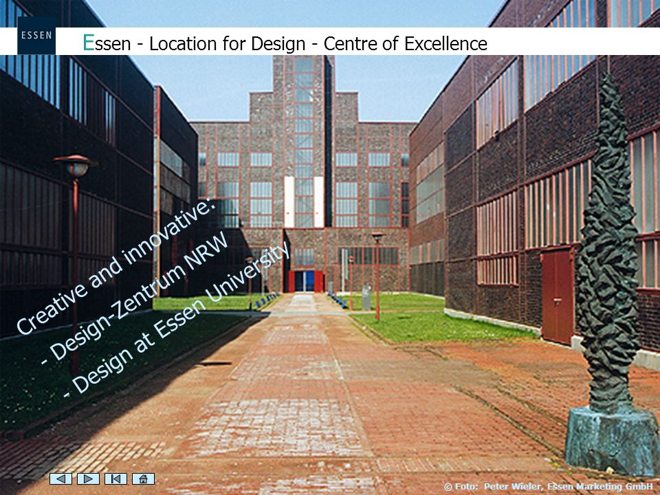 Essen - Location for Design - Centre of Excellence