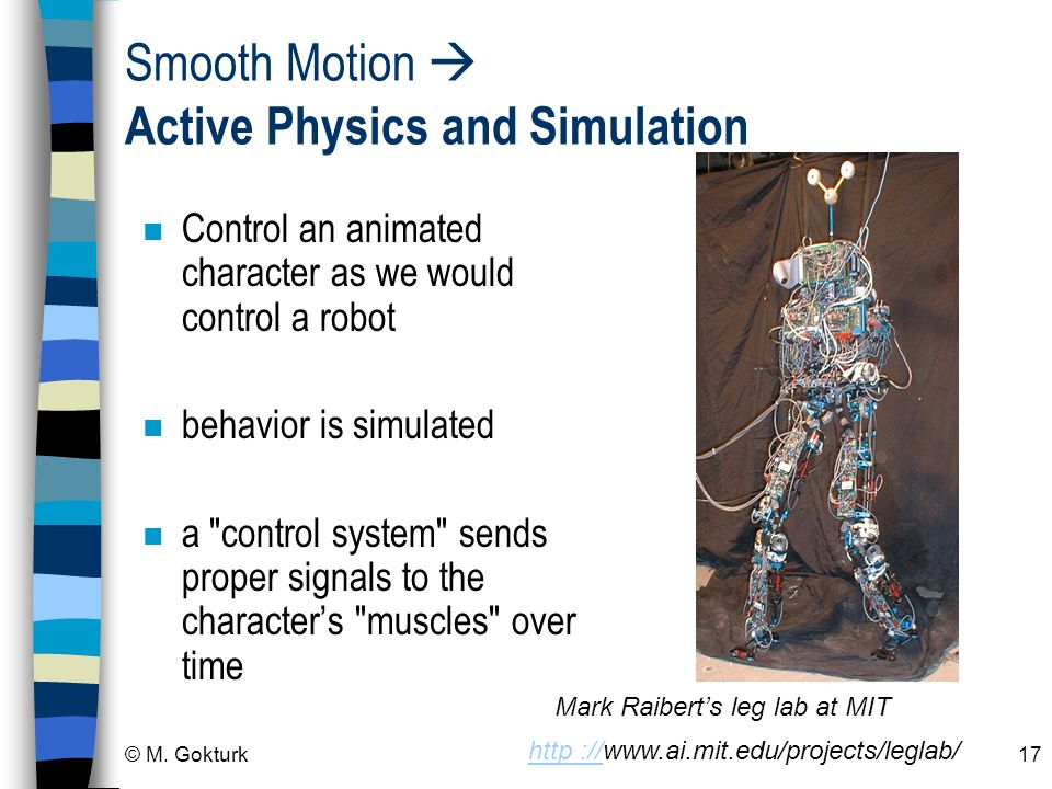 Smooth Motion  Active Physics and Simulation