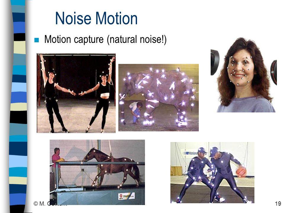 Noise Motion Motion capture (natural noise!) © M. Gokturk
