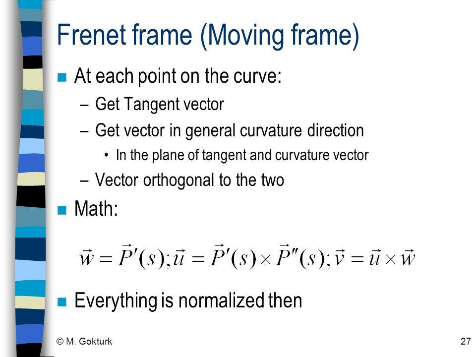 Frenet frame (Moving frame)