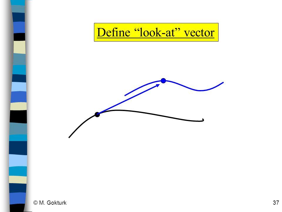 Define look-at vector