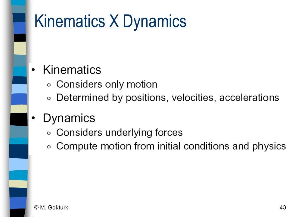 Kinematics X Dynamics © M. Gokturk