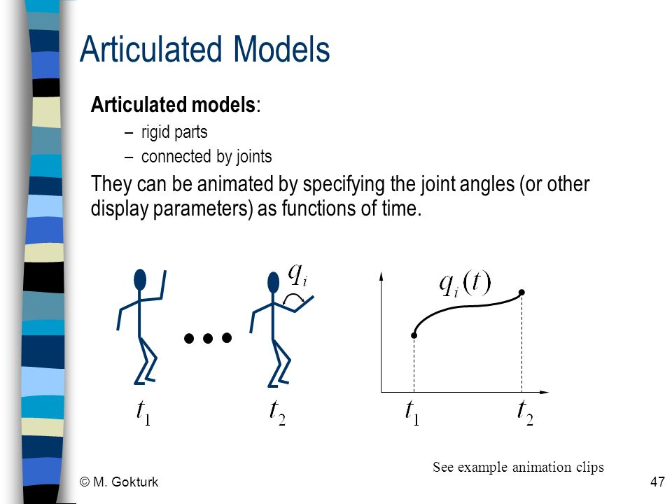 Articulated Models Articulated models: