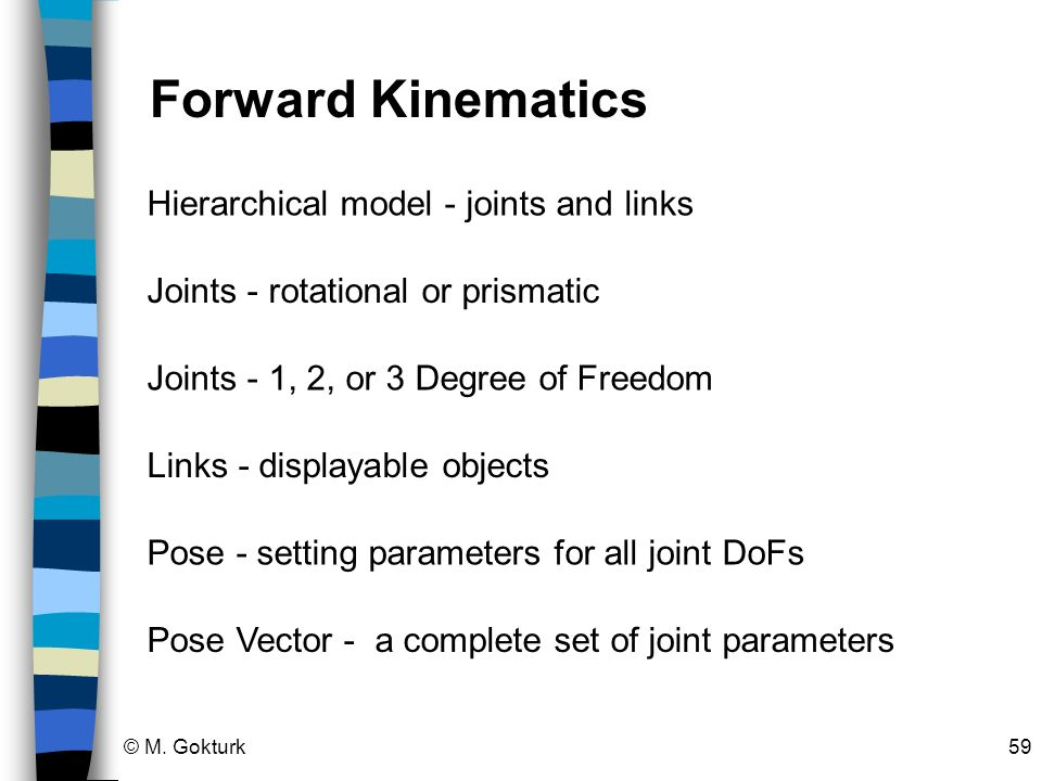 Forward Kinematics Hierarchical model - joints and links
