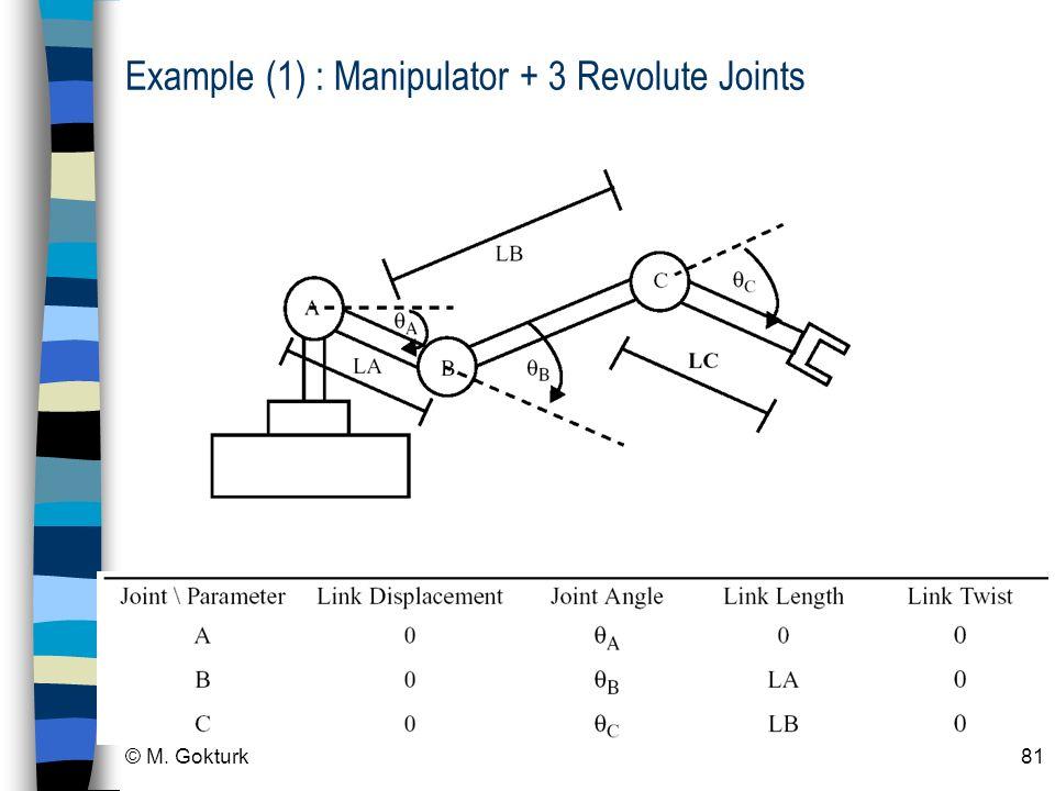 Example (1) : Manipulator + 3 Revolute Joints
