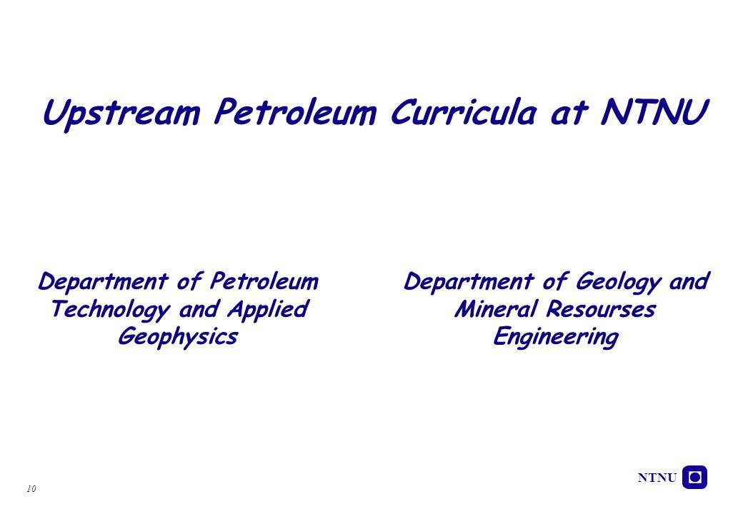 Upstream Petroleum Curricula at NTNU