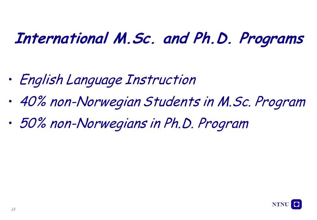 International M.Sc. and Ph.D. Programs