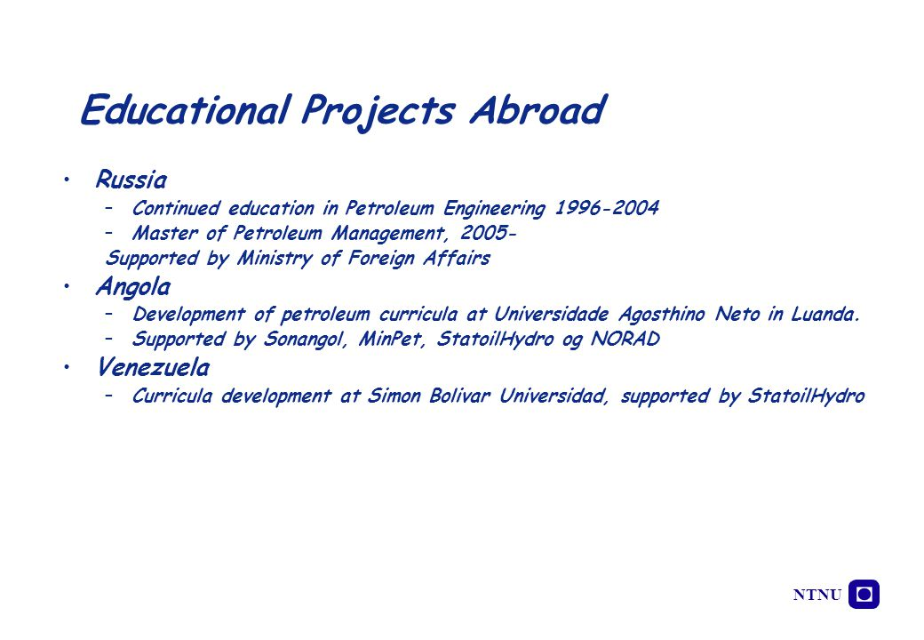 Educational Projects Abroad