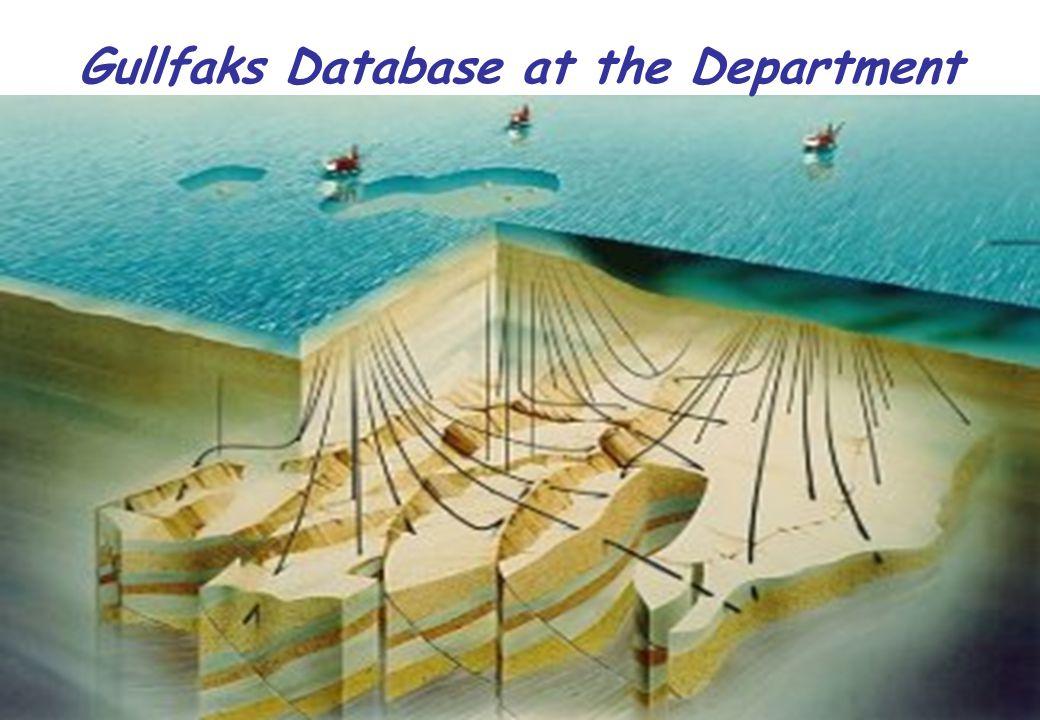 Gullfaks Database at the Department