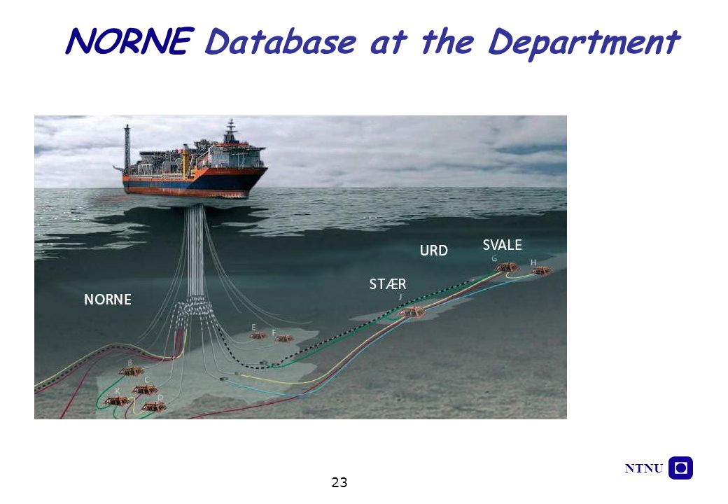 NORNE Database at the Department