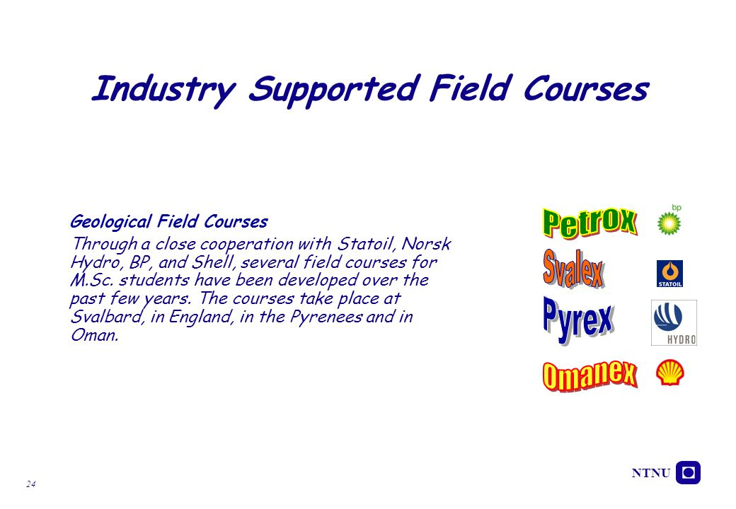 Industry Supported Field Courses