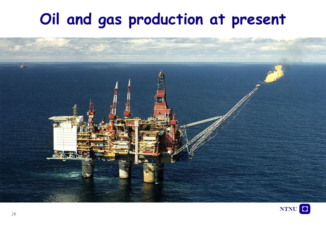 Oil and gas production at present