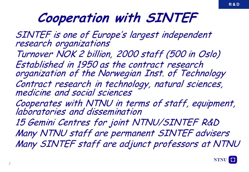 Cooperation with SINTEF