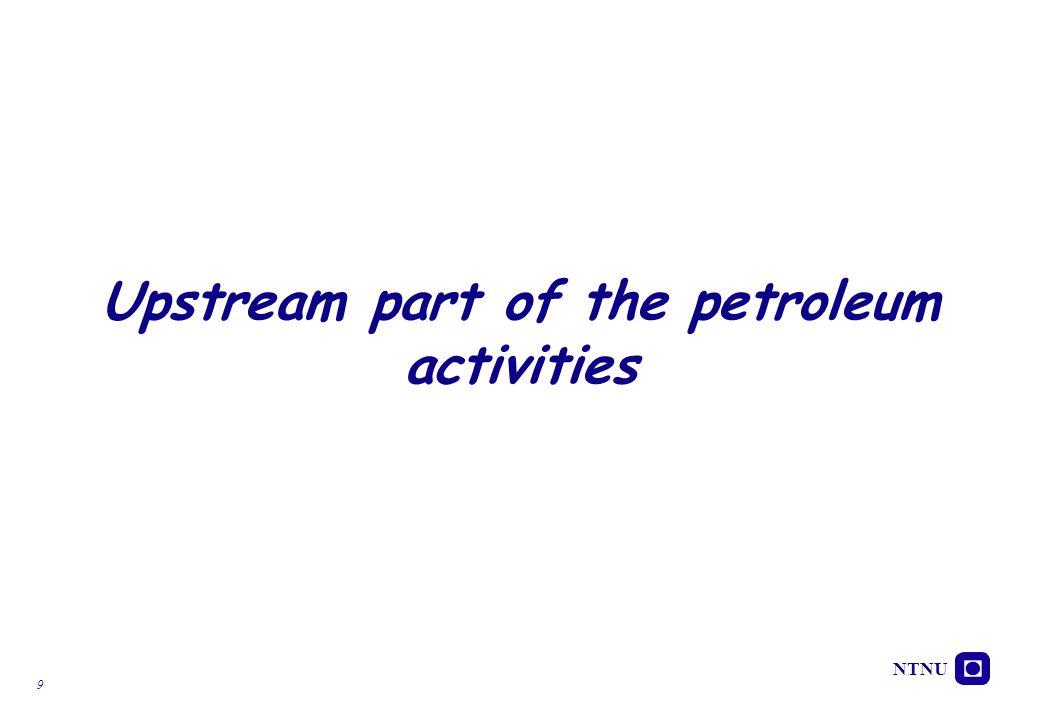 Upstream part of the petroleum activities