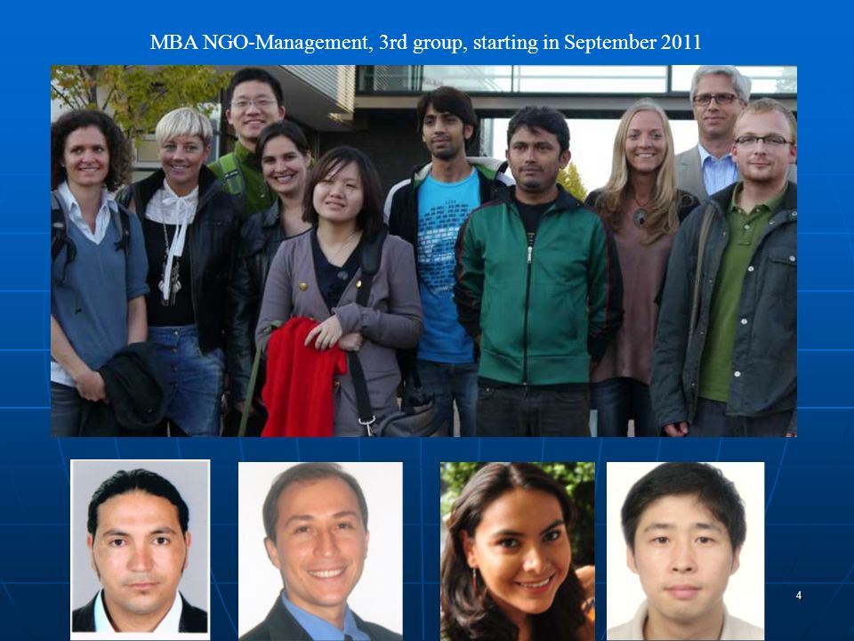 MBA NGO-Management, 3rd group, starting in September 2011