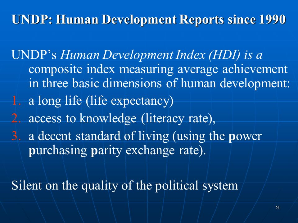 UNDP: Human Development Reports since 1990