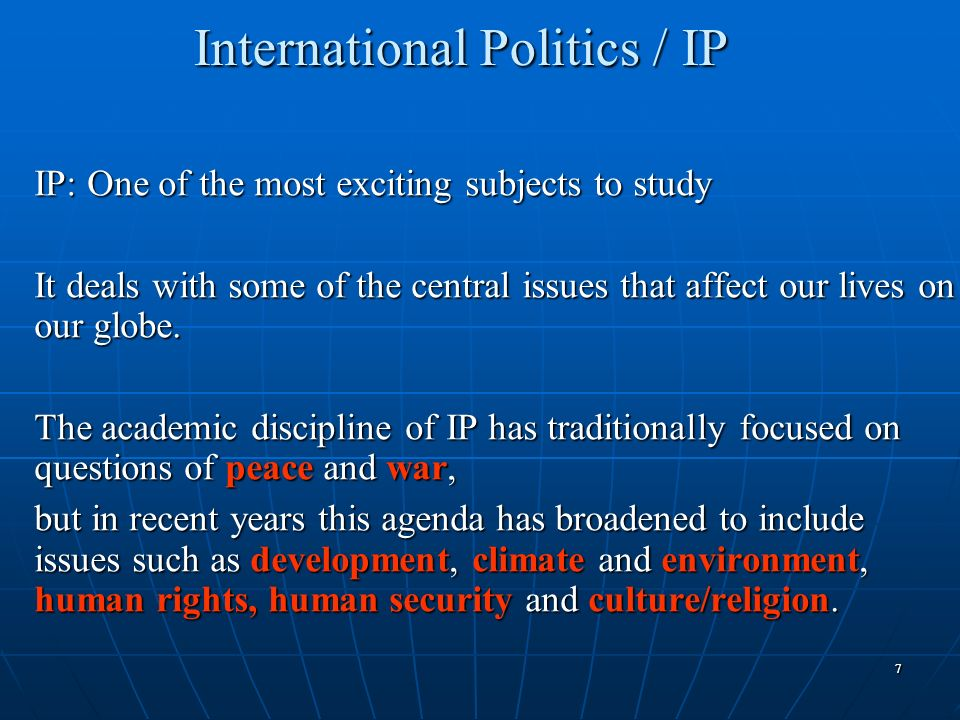 International Politics / IP